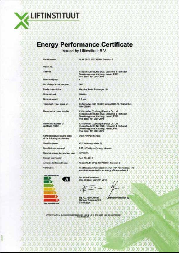 国际raybet雷竞 VDI4707 能耗等级 最高 A 级节能认证3